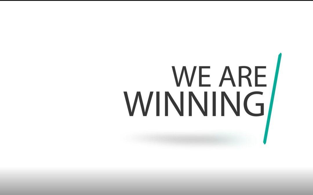 We are winning!